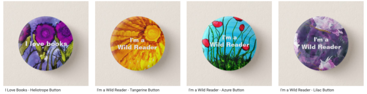 I love books wild reader buttons