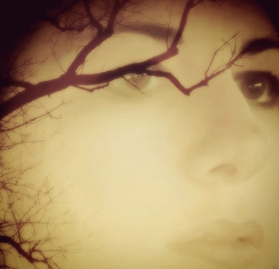 Face Overlaid with Branches