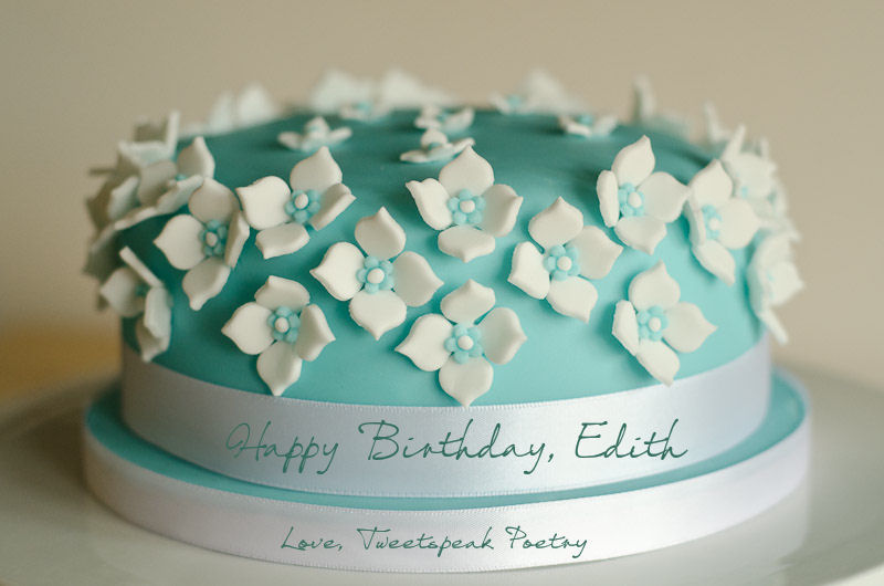 Edith Wharton birthday cake