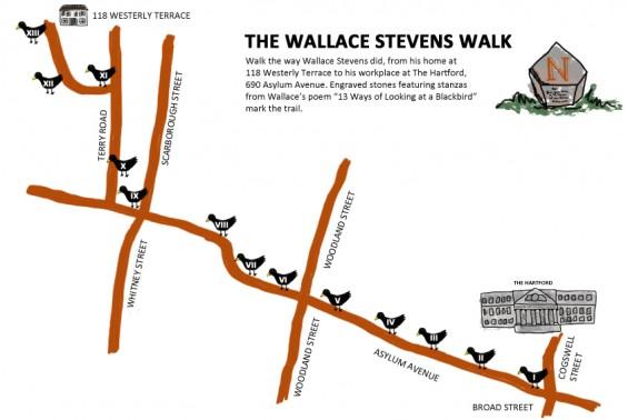 Wallace Stevens Walk map