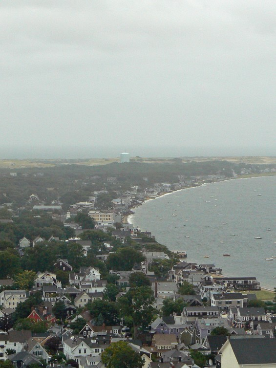 view from atop Pilgrim Monument Provincetown