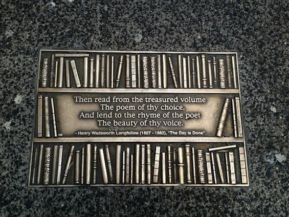 New York City Library Way Longfellow poem quote