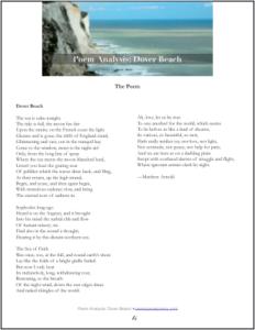 Dover Beach By Matthew Arnold Poem Analysi Tweetspeak New York Usa Paraphrase Summary