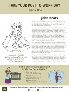 John Keats Take Your Poet to Work