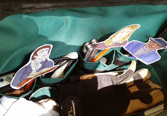Keats Hughes and Plath in tool bag