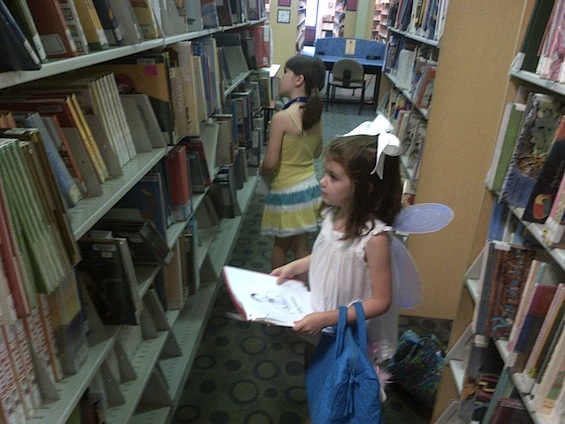 children's poem hunt in the library