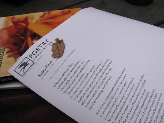 Kubla Khan Poem in Woods