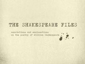 shakespeare-files