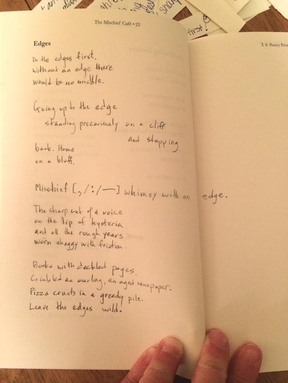 Mischief Cafe Edges Poem