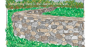 Common Core Picture Poem Mending Wall by Robert Frost featured