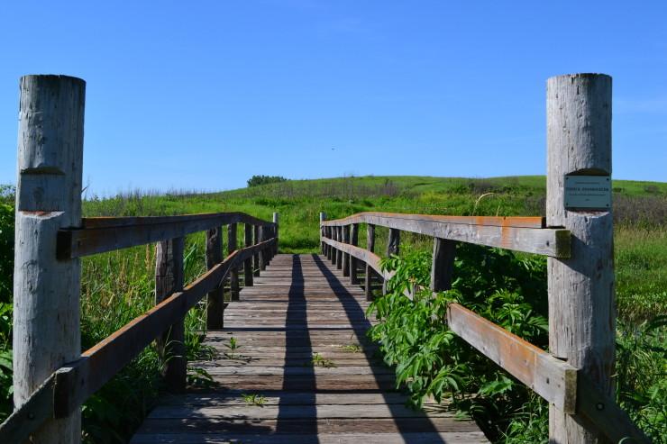 Spring Creek Prairie Audubon Center Denton Nebraska wooden bridge