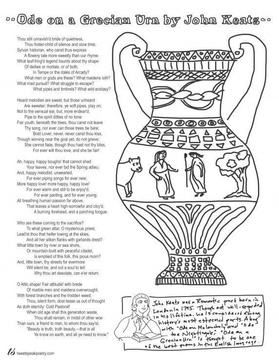 Ode on a Grecian Urn Coloring Page Poem