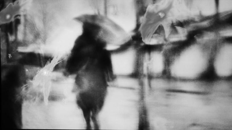Woman in Rain - Poetic Voices: Lucia Cherciu and Sarah Nichols