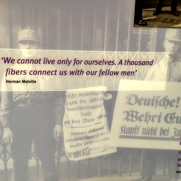 Herman Melville quote at Holocaust Memorial Center