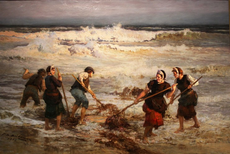 Painting of Seaweed Gathering