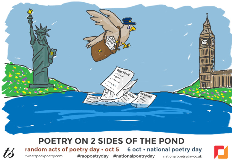 Poetry on 2 Sides of the Pond shareable carrier pigeon