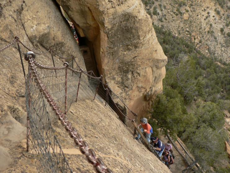 Stone steps at Mesa Verde