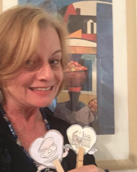 Sandra Heska King with Prufrock Barista Badges