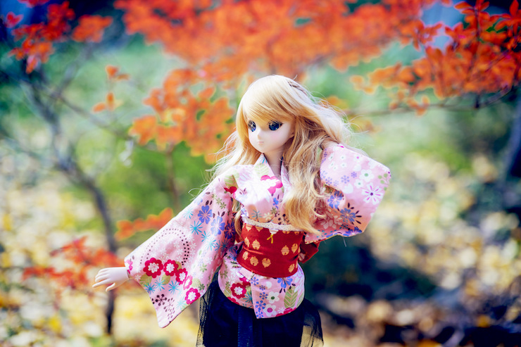 Blond Doll Japanese Clothes