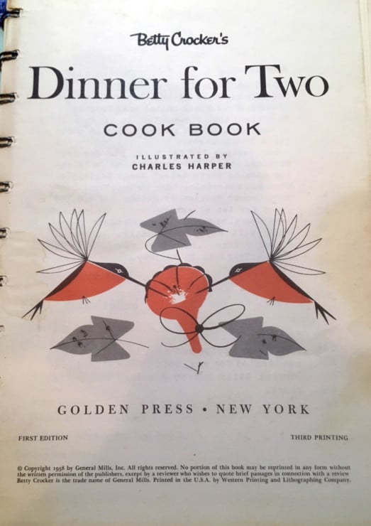 Betty Crocker Dinner for Two Cookbook