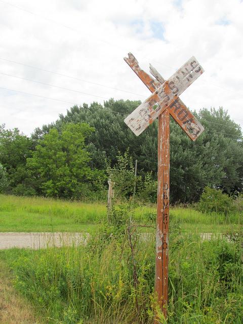 Metz Fire Railroad Sign
