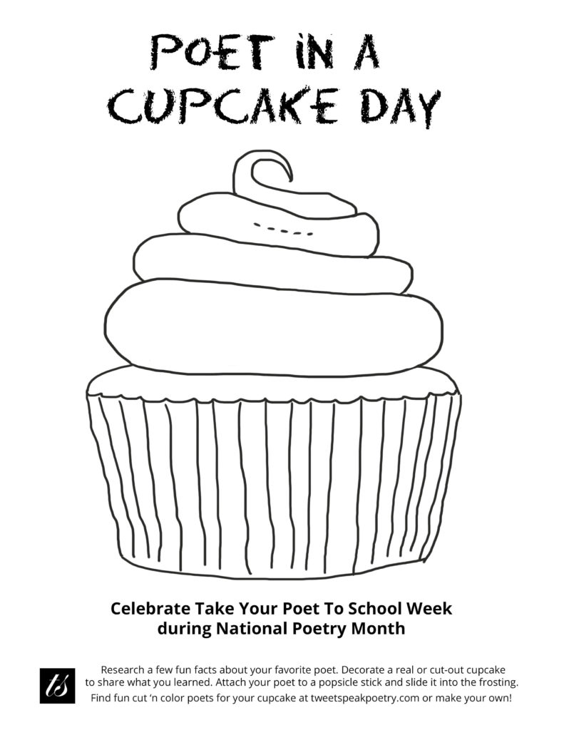 Poet in a Cupcake Day Printable