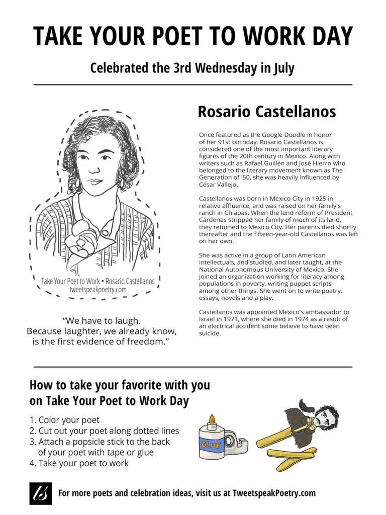 Rosario Castellanos - Take Your Poet to Work Printable