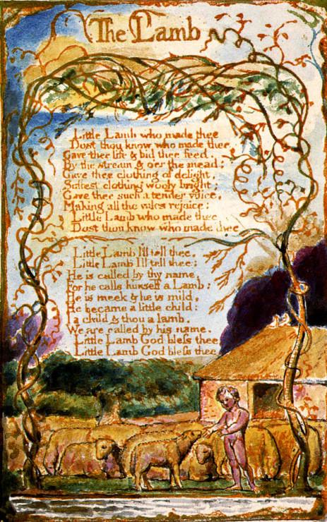 Songs-of-Innocence-The Lamb William Blake Illustration