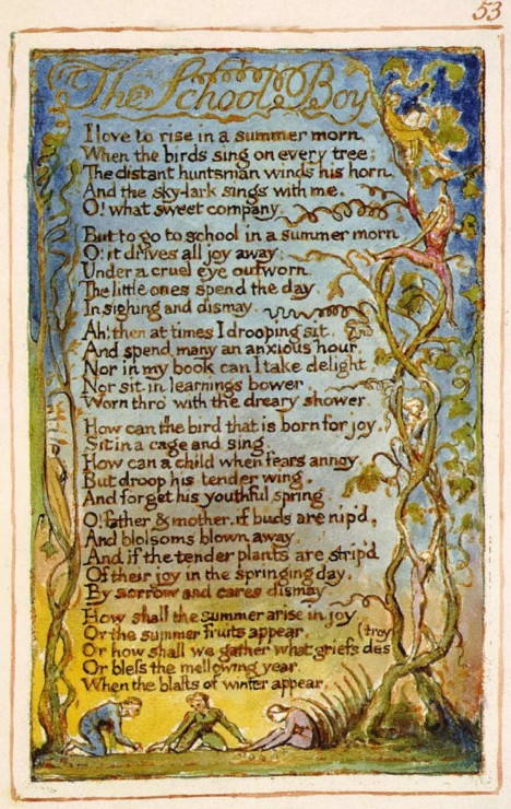 The School Boy William Blake Illustration