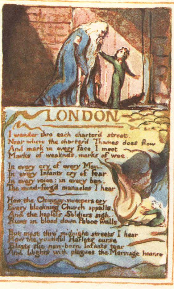 William Blake London Illustration