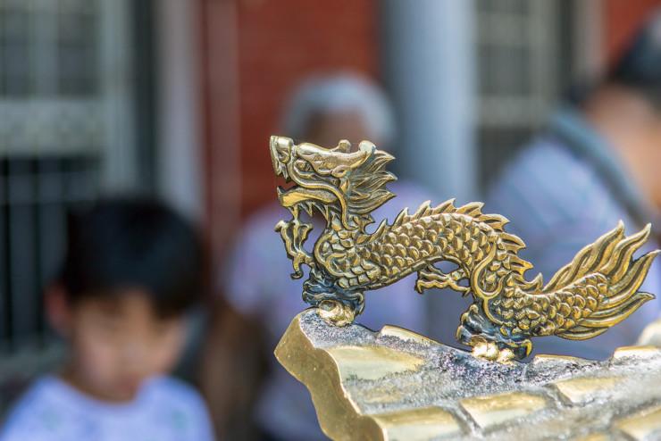 Brass drago Banished Immortal Li Bai Ha Jin
