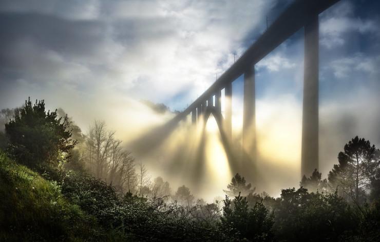 bridge is sunrise mist