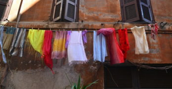 Bright laundry hanging