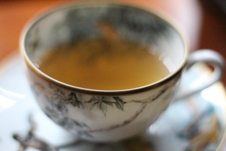 Pine Needle Tea in Wednesday Cup