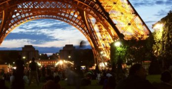 The gift of poetry - eifel tower lit at night