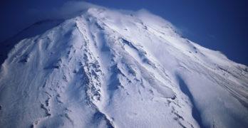 snow storm Mt. Fuji
