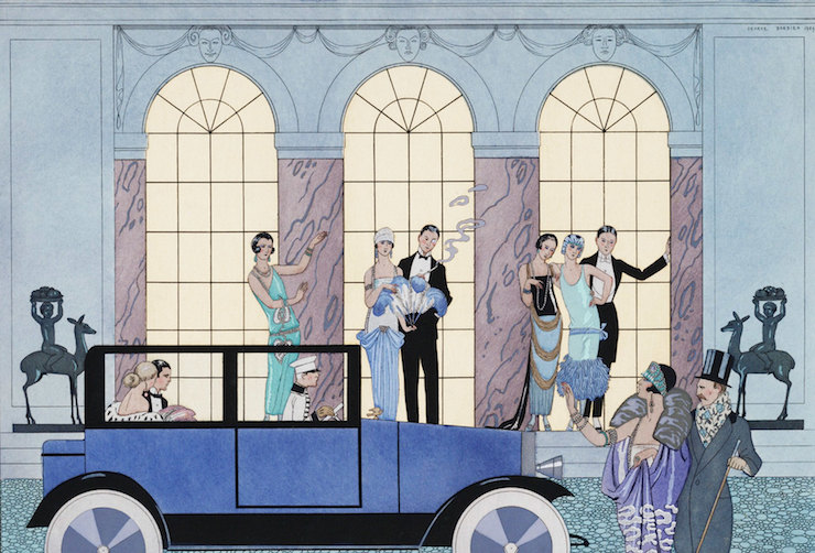 """The Great Gatsby Fashion Vintage 1920s Party-George Barbier """"Au Revoir"""""""