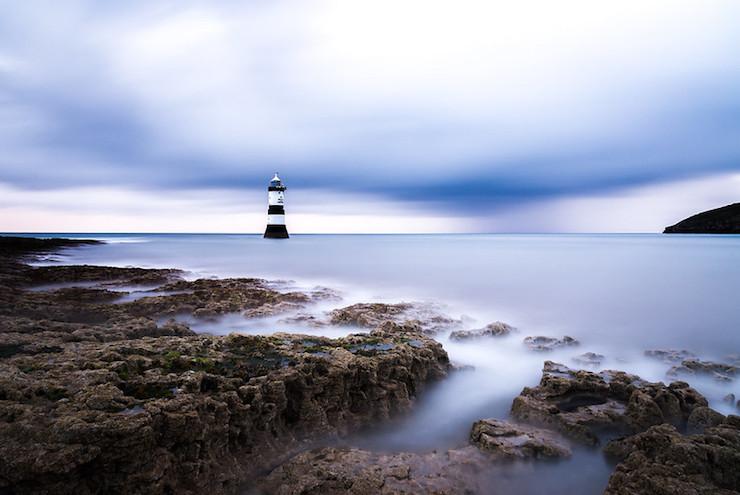 Penmon Lighthouse Anglesey Beach Quiet Sea Meditation Poem