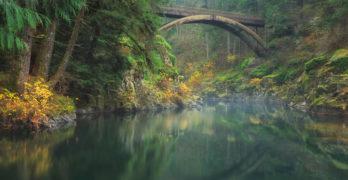 Washington State Moulton Falls Regional Park Lewis River