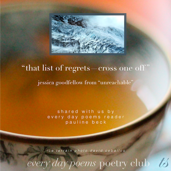 forget your regrets poem icy terrain
